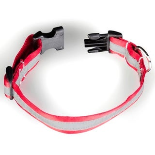 Petflect Radiant Red/ Silver Reflective AdventurePlay Collar