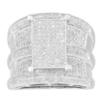 Sterling Silver 1 1/5ct TDW Diamond Anniversary Ring (G-H , I2-I3)