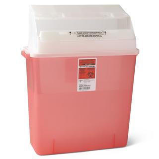 Medline Biohazard Multi-Purpose Sharps Containers, 3 Gallon (Pack of 12)