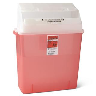 Medline Biohazard Multi-Purpose Sharps Containers, 3 Gallon (Pack of 12)