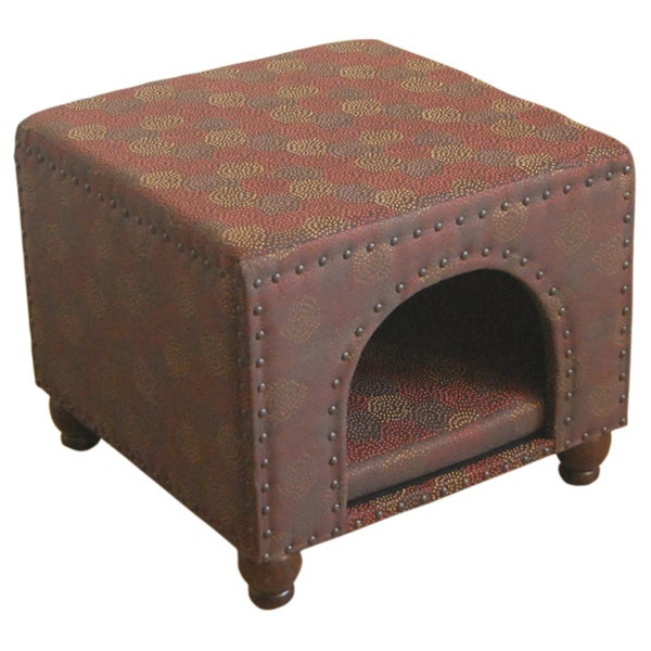 Homepop Brown Medallion Ottoman Pet Bed Free Shipping