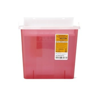 Medline Biohazard Patient Room Sharps Containers, 5 quart (Pack of 20)