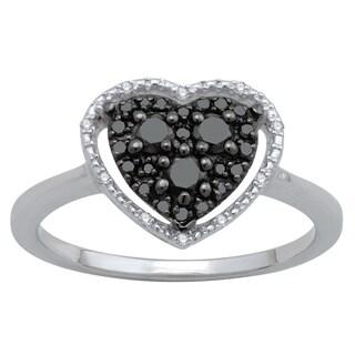 Divina Sterling Silver 1/3ct Diamond Fashion Ring