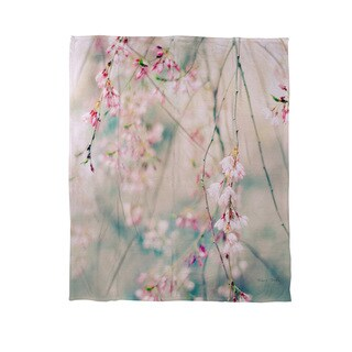 Weeping Cherry Blossoms Coral Fleece Throw (3 options available)