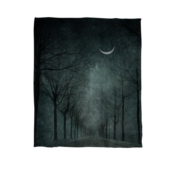 When the Moon is Tired Coral Fleece Throw