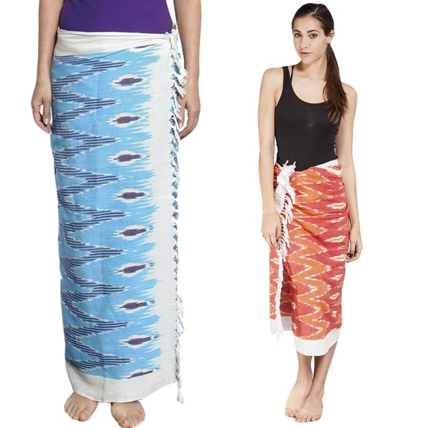 Handmade Women's Ikkat Kekoi Summer Sarong Wrap (India)