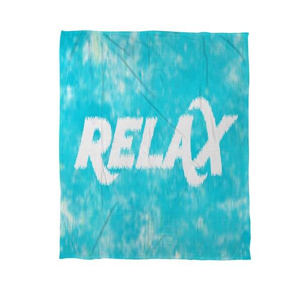 Sponge Paint Relax Coral Fleece Throw