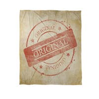 Stamp Original Coral Fleece Throw