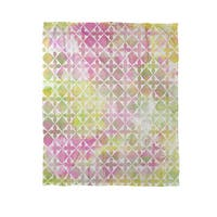 Summer Florals Pattern II Coral Fleece Throw