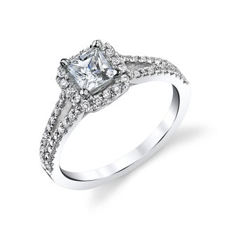 14k White Gold 4/5ct TDW Princess-cut Diamond Engagement Ring (H, I1-I2)