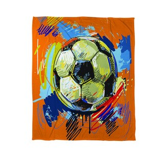 Thumbprintz Soccer Goal - Coral Fleece Throw