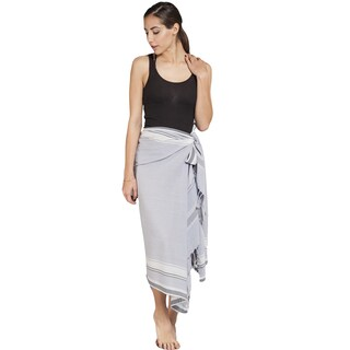 Handmade Women's Cotton Kekoi Sarong Wrap (India) (Option: Grey)