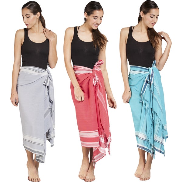 1ee81f11f5981 Shop Handmade Women's Cotton Kekoi Sarong Wrap (India) - Free ...