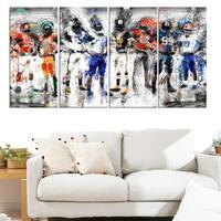 Design Art 'Football Team' Canvas Print