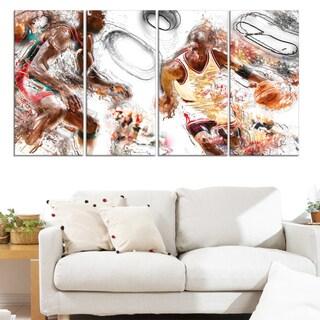 Design Art 'Basketball Offense' Canvas Print