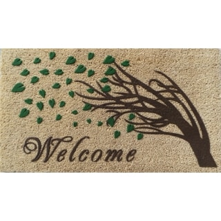 First Impression Welcome Tree Fade Resistant Flocked Doormat (1'6 x 2'6)