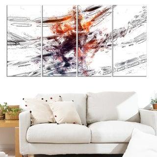 Design Art 'Basketball Abstract 3 Pointer ' Canvas Art Print