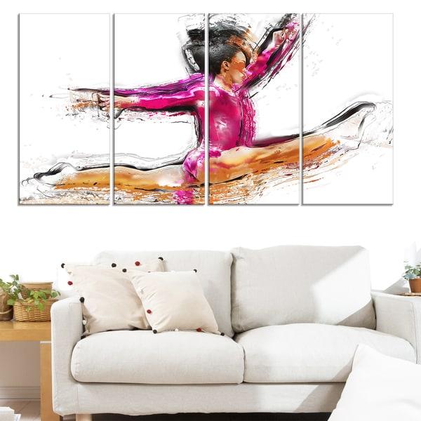 Design Art 'Gymnastics Split ' Canvas Art