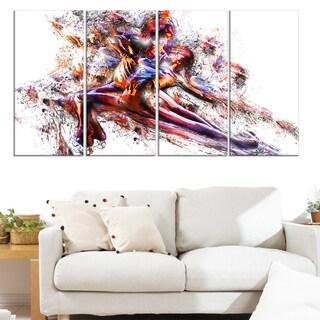 Design Art 'Figure Skating Couple' Canvas Art Print