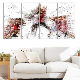 Design Art 'Basketball Jump Shot' Canvas Art Print