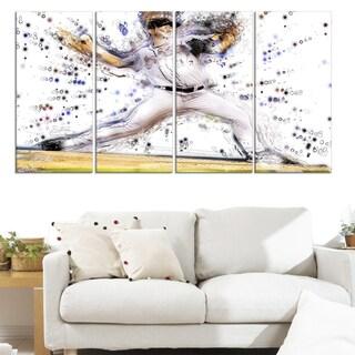 Design Art 'Baseball Pitcher' Canvas Art Print