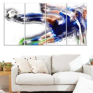 Design Art 'Soccer Big Kick' Canvas Print