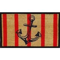 First Impression Anchor Stripe Doormat
