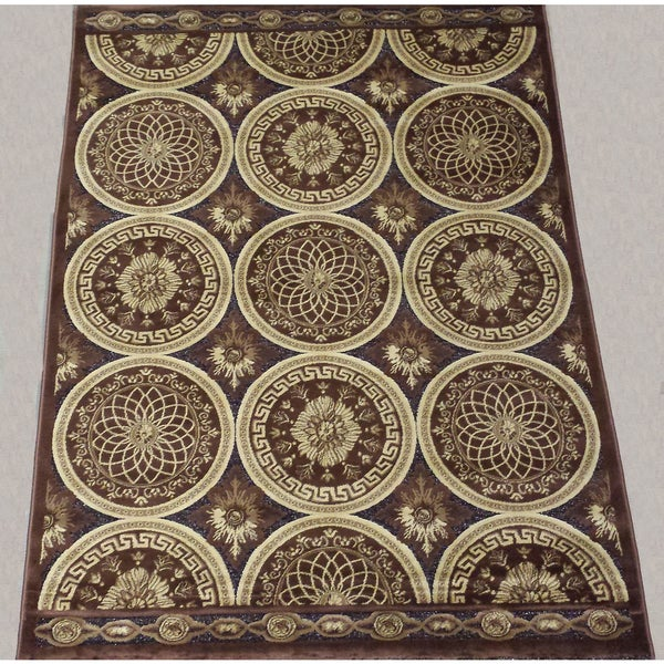 LYKE Home Hazel Brown Area Rug - 5' x 8'