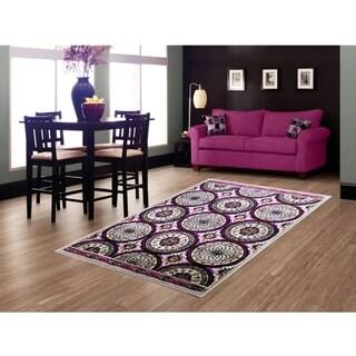 LYKE Home Hazel Lilac Area Rug (5' x 8')