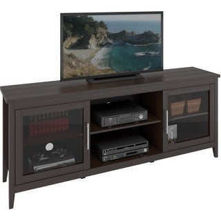 CorLiving TFP-684-B Jackson 71-inch Extra Wide TV Bench for TVs up to 80 inches