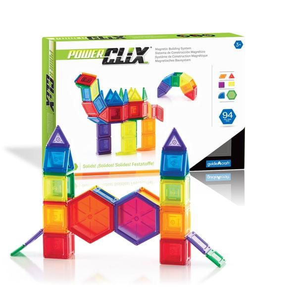 Guidecraft PowerClix Solids 94-piece Set