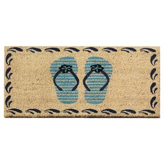First Impression Flip-Flops Coir Doormat (1'6 x 2'6)
