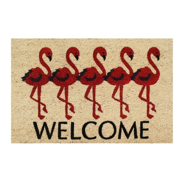 First ImpressionFlamingo Welcome Mat