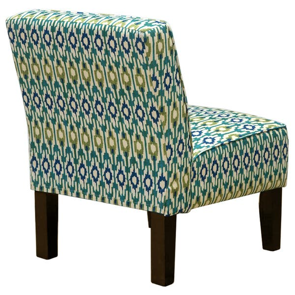 Admirable Shop Blue Green Ikat Accent Chair Free Shipping Today Lamtechconsult Wood Chair Design Ideas Lamtechconsultcom
