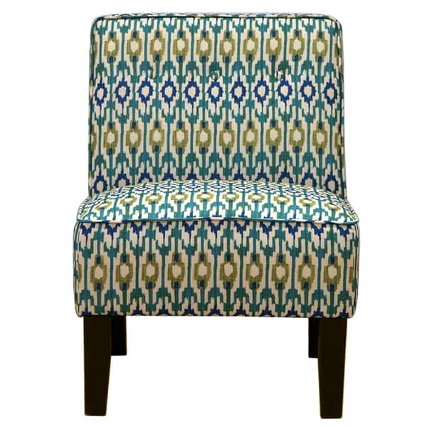 Awesome Shop Blue Green Ikat Accent Chair Free Shipping Today Lamtechconsult Wood Chair Design Ideas Lamtechconsultcom