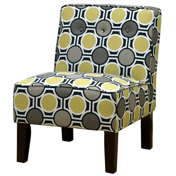 Shop Geometric Pattern Button Tufted Chair Overstock