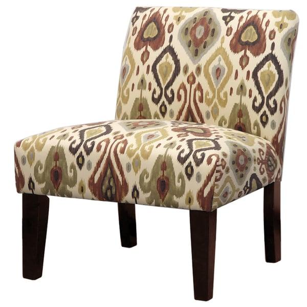 Bon Earth Tone Ikat Slipper Chair