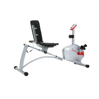 Sunny Health and Fitness SF-RB4417 Magnetic Recumbent Bike - Silver