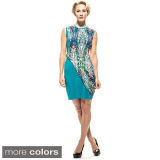 Amelia Women's Mosaic Knit Print Overlay Sheath Dress|https://ak1.ostkcdn.com/images/products/10023507/P17169806.jpg?_ostk_perf_=percv&impolicy=medium