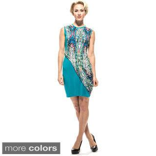 Amelia Women's Mosaic Knit Print Overlay Sheath Dress|https://ak1.ostkcdn.com/images/products/10023507/P17169806.jpg?impolicy=medium