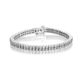 SummerRose 14k White Gold 5ct TDW Diamond Tennis Bracelet (H-I, SI1-SI2)