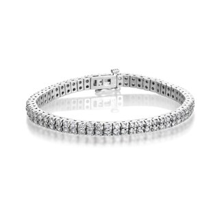 SummerRose 14k White Gold 5ct TDW 2-row Diamond Tennis Bracelet