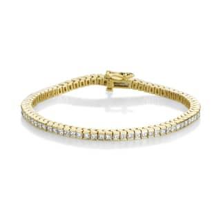 Summer Rose 14k Yellow Gold 4ct TDW Princess-cut Diamond Tennis Bracelet https://ak1.ostkcdn.com/images/products/10023512/P17169852.jpg?impolicy=medium