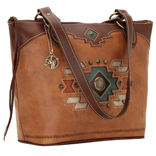 American West Zuni Passage 2215576 Zip Top Tote