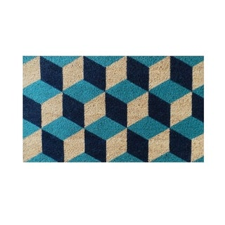 Geometric Blocks Pattern Decorative Door Mat