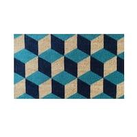 Geometric Blocks Pattern Decorative Door Mat (1'6 x 2'6)
