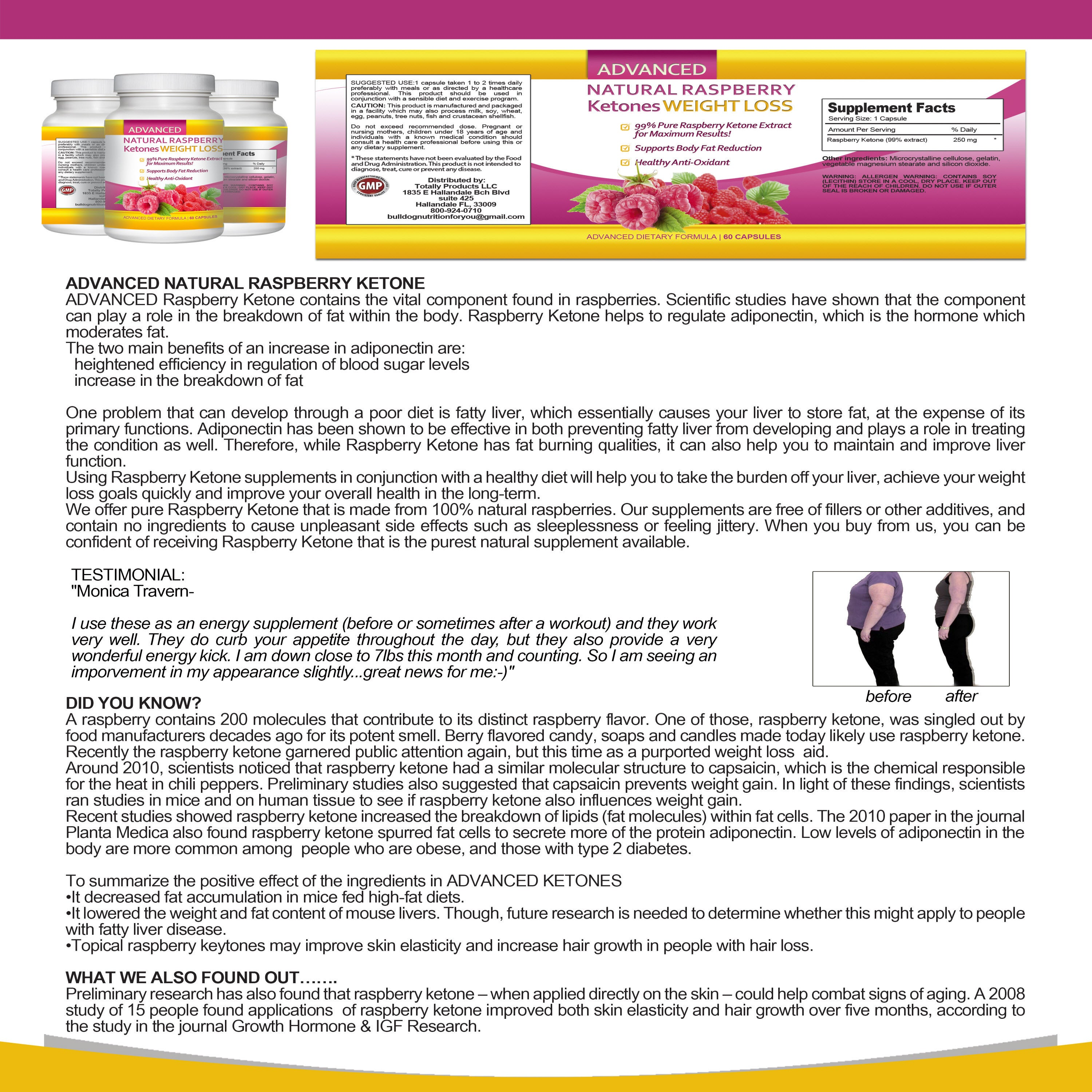 Shop Totally Products Raspberry Ketones Weight Loss And Fat Burning Supplement 60 Capsules Overstock 10023604