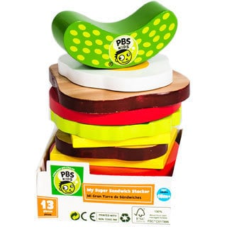 PBS Kids Wooden Toy Sandwich Stacker