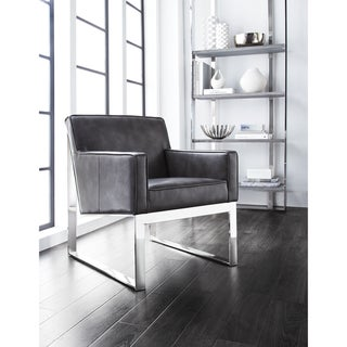 Sunpan 'Club' Sheldon Leather Armchair