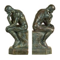 "Copper Grove Chatfield ""The Thinker"" Polystone Bookends"